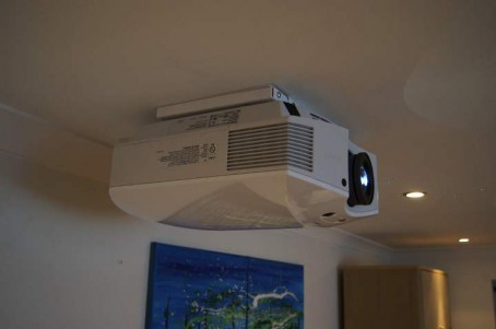 flat projector mount